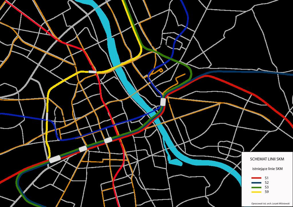 Modernizacja Warszawskiego Węzła Kolejowego SKM istniejące