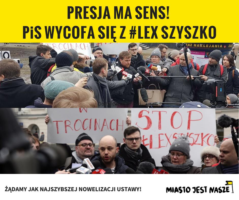 PiS wycofa się z #LexSzyszko
