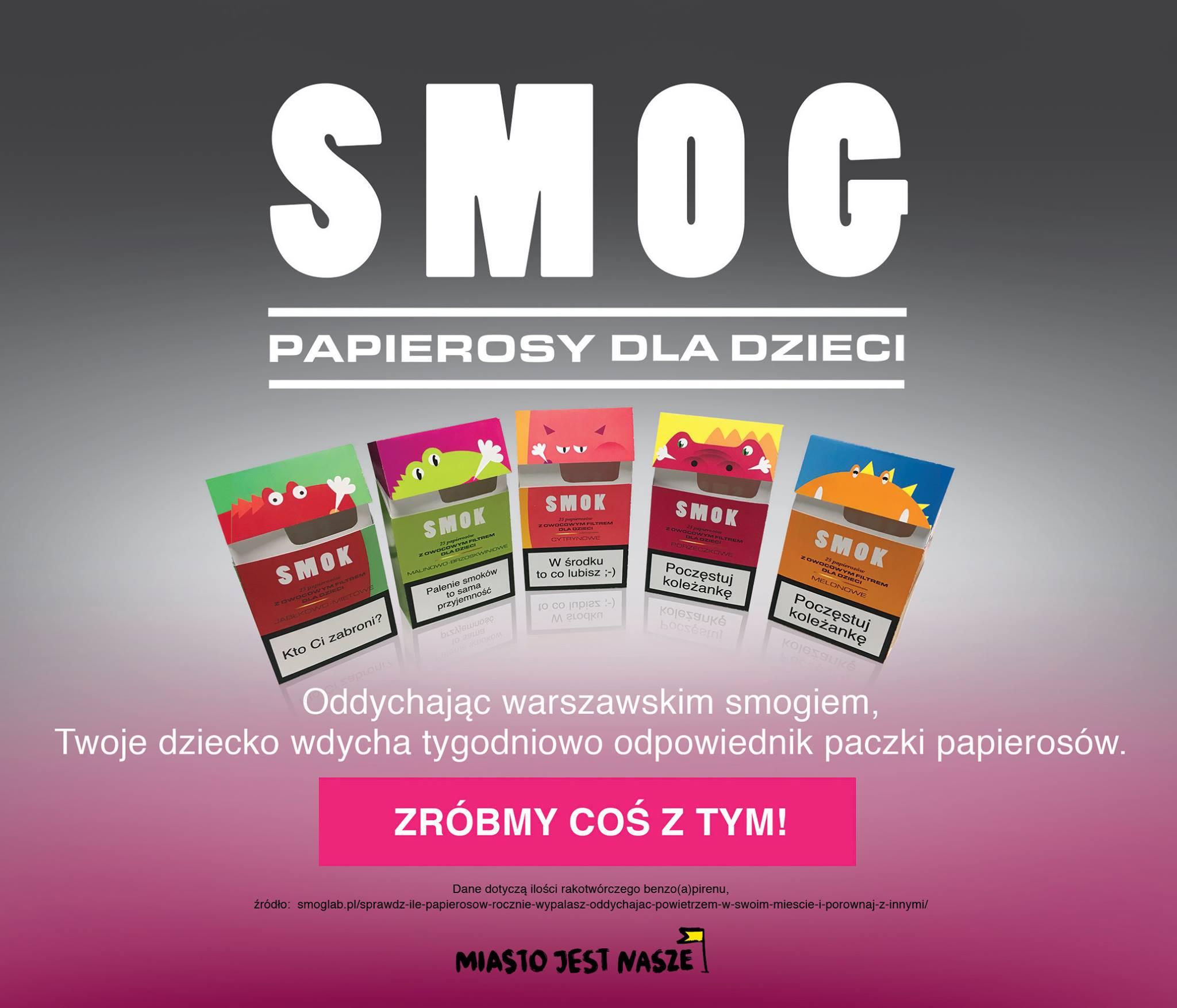 Smog. 3 papierosy dziennie dla dzieci