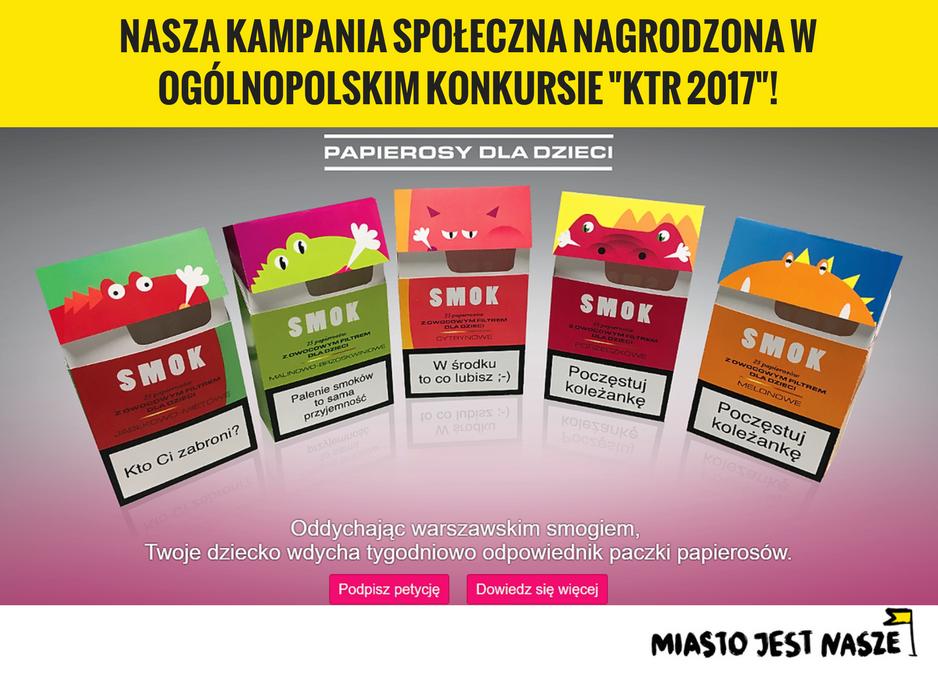 Smok - papierosy dla dzieci nagrodzone!
