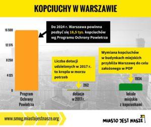 Kopciuchy w Warszawie - infografika