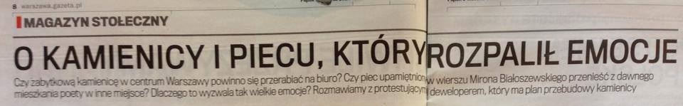 Gazeta Stołeczna opiecu Mirona Białoszewskiego