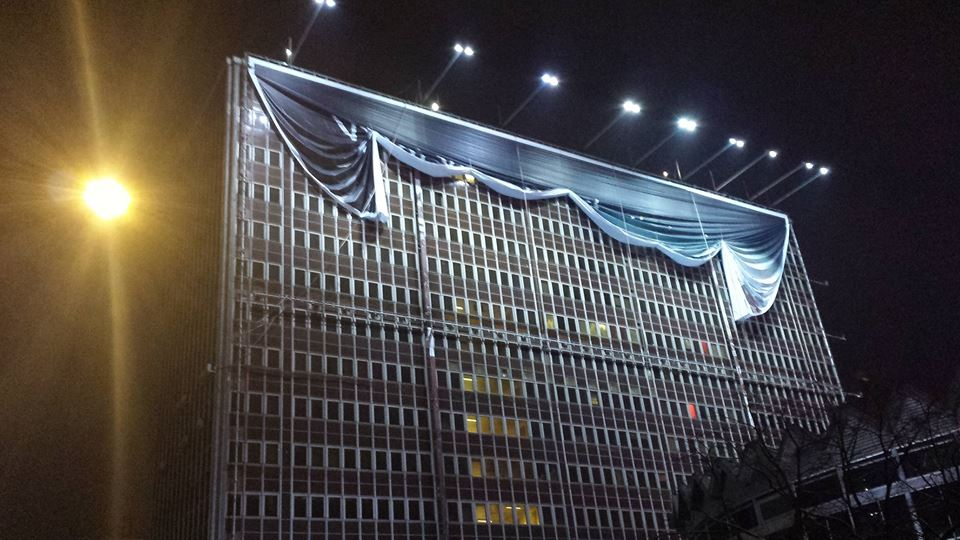 Odsłonięty budynek Universalu
