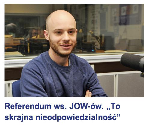 """Referendum wsprawie JOW-ów. """"To skrajna nieodpowiedzialność"""""""