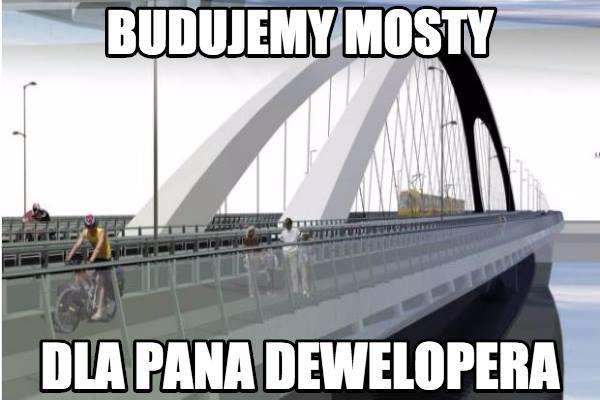Most Krasińskiego czyli zabawa wgłupiego Jasia zmieszkańcami