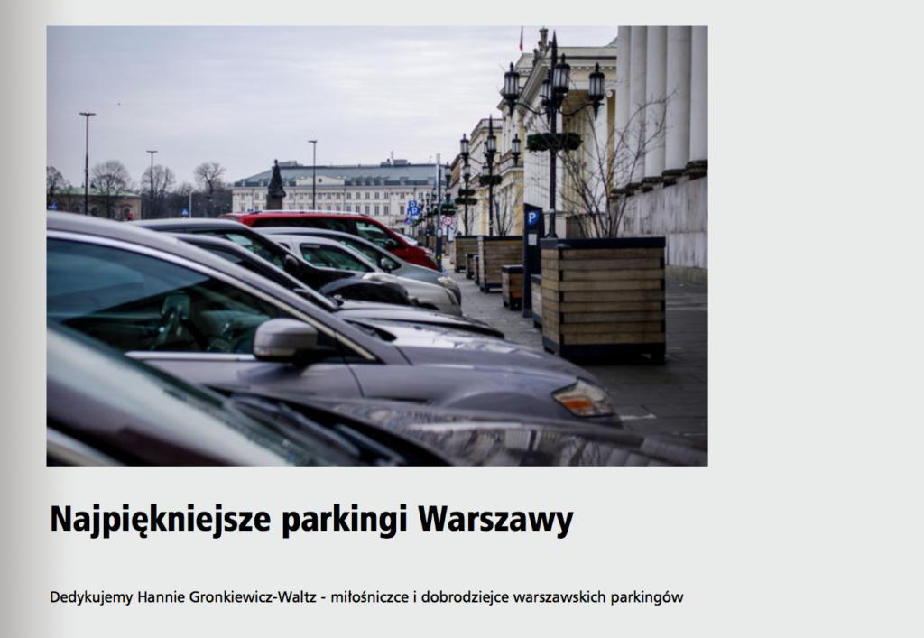 """""""Najpiękniejsze parkingi Warszawy"""""""