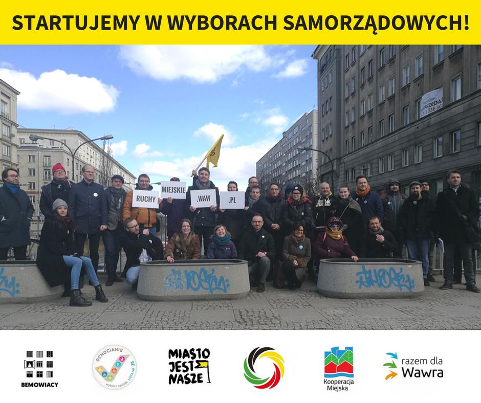 Nowe organizacje wKoalicji Ruchów Miejskich