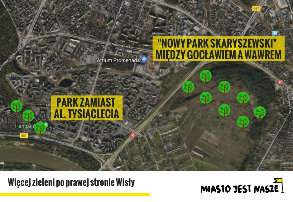 Więcej zieleni dla mieszkańców Pragi-Południe