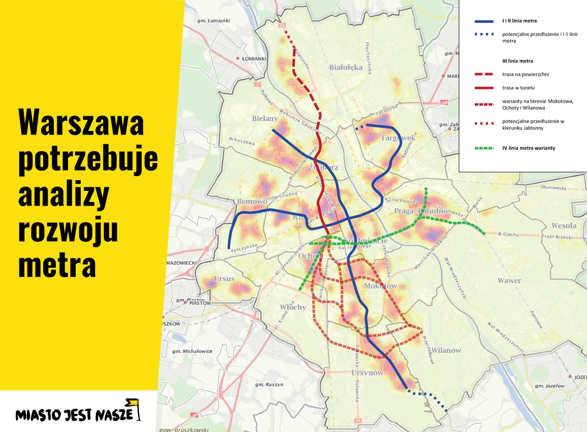 Metro naGrochów iGocław? Tak, alenieprzezstację stadion!