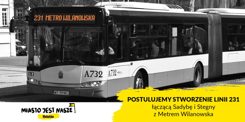 Nowa linia 231 dla Mokotowa