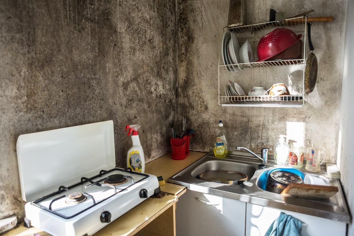 Zagrzybione mieszkania wstydem stolicy