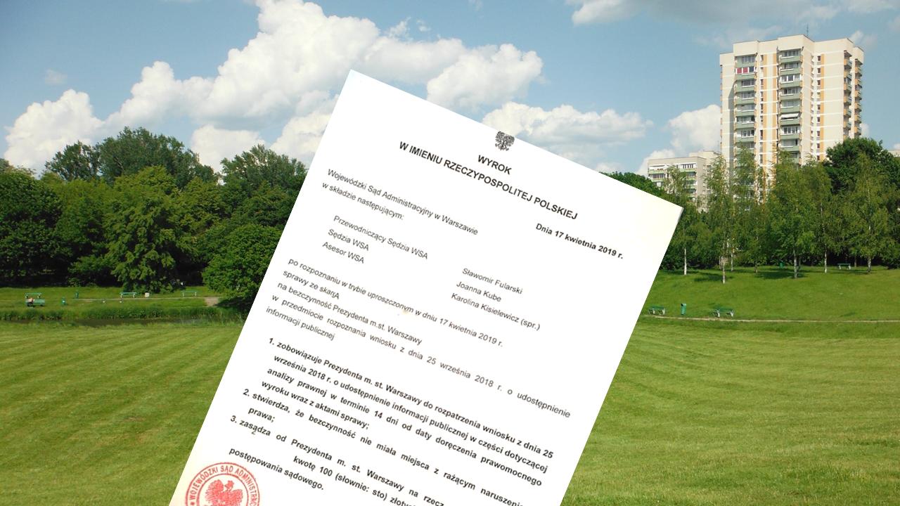 Sprzedaż działki naKamionkowskich Błoniach Elekcyjnych – sąd zajawnością