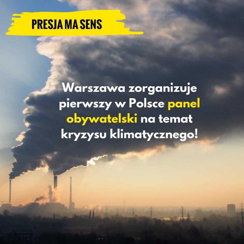 Warszawa zorganizuje panel obywatelski natemat klimatu