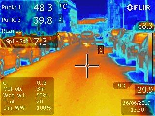 Warszawska #betonoza wkamerze termowizyjnej
