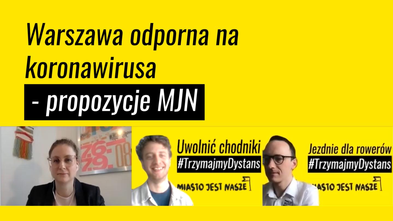 Chodniki dla pieszych, jezdnie dla rowerów – Warszawa odporna nakoronawirusa