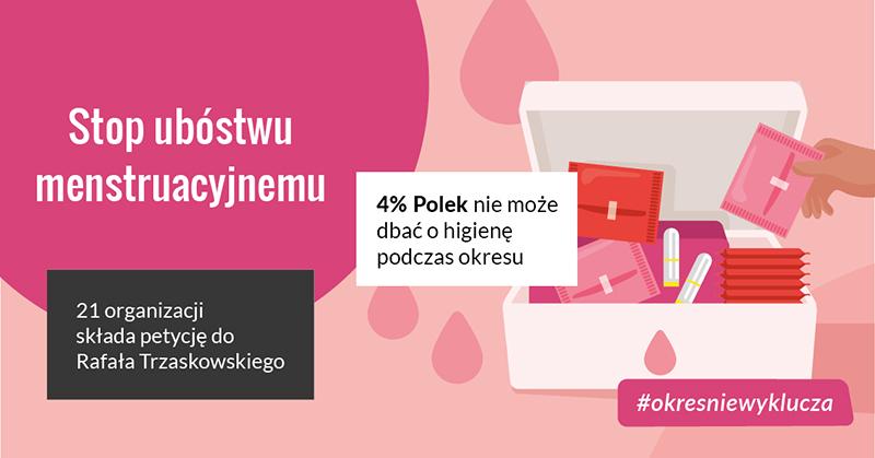 Skończmy zubóstwem menstruacyjnym wWarszawie!
