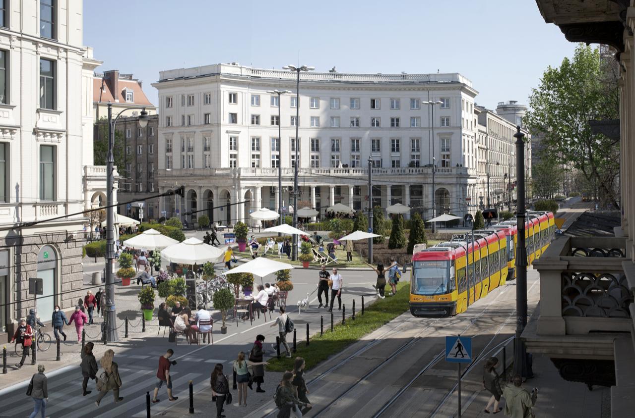 Plac Zbawiciela iMarszałkowska – nowym deptakiem dla Warszawy